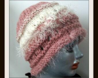 HAT WOMEN KNITTED  Wool  Cloche Flapper Winter Spring