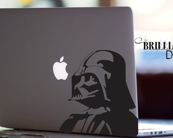 Darth Vader, Darth Vader Decal, Darth Vader Sticker, Star wars, Star wars Decal, Darth Vader Macbook Decal, Macbook Sticker, Star wars Yoda