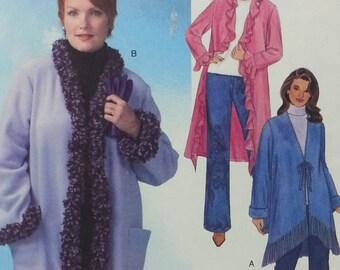 Womens Fleece Unlined Coat Pattern Size 26w-32w Mccalls M4674 Fabulous Fleece Coat Pattern in Three Lengths