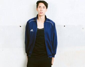 Adidas Track Jacket . Mens Vintage Adidas Blue 90s Jacket Zip Up Sports Jacket Tracksuit Top Training Jacket Adidas Streetwear . size Small