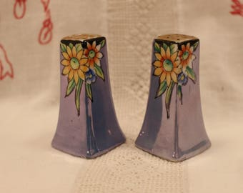 Vintage Lusterware  Small Floral Salt And Pepper Shakers Made In Japan
