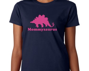 Mommy dinosaur t shirt, Mothers day gift, personalized adult womens dinosaur t shirt, gift for mom