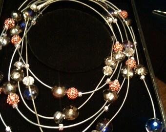 "30"" Cascade necklace"