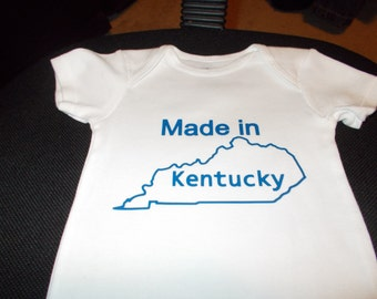 Made in your choice of State Onesie! NEW!! Cute!!