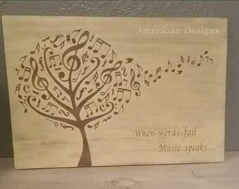 Music tree - when words fail music speaks