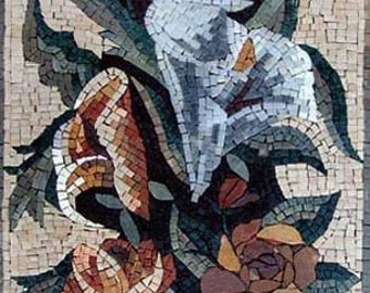 Carnation Flower Arrangement Mosaic Art