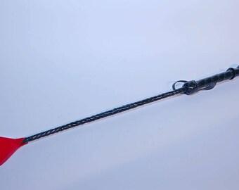 Leather BDSM riding crop, Bdsm Leather Strap /Spanking Belt / Crop / Slave  / Whip / Slapper / Short Slapper