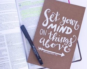 Set Your Mind on Things Above Christian Scripture Journal