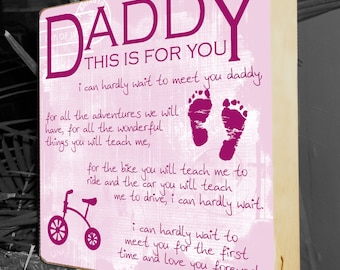 """New Dad Gifts, Gifts for New Parents, Baby Shower Gift, Personalized Shower Gift, New Dad, Daddy To Be Gift, Grandparents, 10""""x10"""" Birch"""