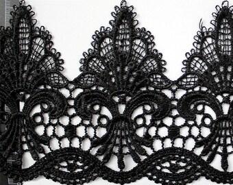 11.5cm Black lace trim for DIY sewing,white lace trim