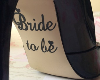 Bride to be Hen Night Bachelorette party vinyl shoe sole decals sticker wedding marriage gift present accessory