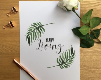 A4/A5 Slow Living, simple, modern Print