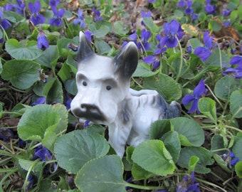 Vintage Dog Planter Scottie Terrier Figurine Vase