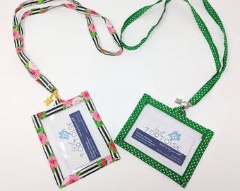 Badge Holder Lanyard - Custom - Lanyard - ID and Name Pouch Badge Holder