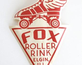 Vintage Roller Skating Rink Souvenir Decal Sticker