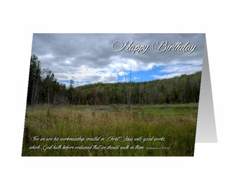 Birthday Card - Ephesians 2:10 KJV
