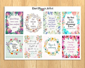 Motivational & Inspirational Quotes Planner Stickers (MS-008)