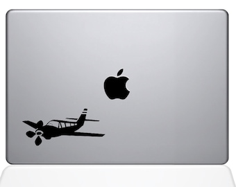 Small Propeller Airplane - Computer Decal Sticker