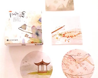 Stickers 40 pieces Japanese papers