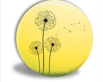 Dandelions Mirror, Dandelion Pocket Mirror