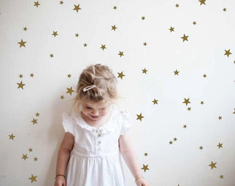Gold Star Wall Decals, Star Decals, Nursery Wall Decals, Gold Confetti Stars,Star Wall Stickers