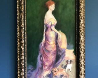 Oil on canvas // antique art