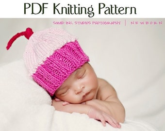 Knit Cupcake Hat Pattern, Boston Beanies