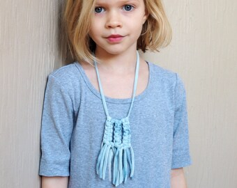 macrame fringe necklace - little livly