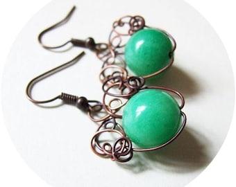 Simple Wire Earrings Tutorial, Spring Dangle Tutorial, Earrints DIY Pattern, Tutorial 13