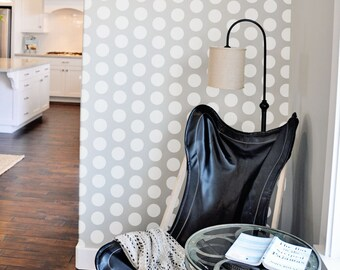 Little Dots Wall Stencil Reusable