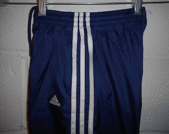 Vintage Adidas Windbreaker Pants Youth Small