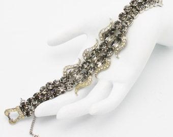 Vintage Weiss Black Diamond Bracelet 1950s 60s