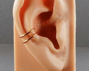 Ear Cuff Copper Double Band