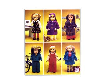 """18"""" Doll Clothes and Dog McCalls 2506 Sewing Pattern UNCUT Fits American Girl Dolls"""