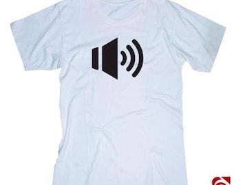 Volume control white tshirt