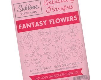 Flower Embroidery Design   Sublime Stitching Embroidery Patterns, Reusable Iron On Transfer Pattern - Fantasy Flowers
