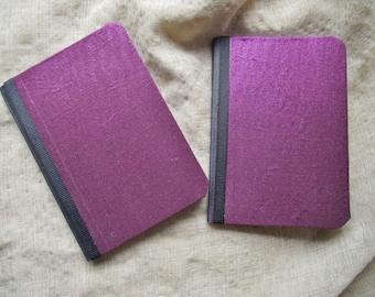 Pocket Notebook Set Jotter purple metallic wedding favor Mini Travel journal Party Favor Lunchbox prayer journal book club stocking stuffer