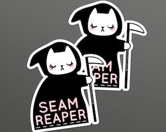 Seam Ripper Sticker - Sarah Watts Original Artwork - Sticker Size 3.5 x 3.75 inches - Listing is for ONE sticker