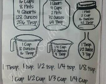 Jar measurement decal
