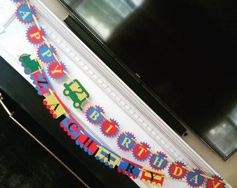 Banner: Birthday Choo Choo