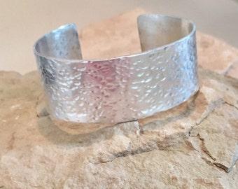Wide hammered sterling silver cuff bracelet, cuff bracelet, hammered  silver bracelet, sterling silver bangle, hammered bangle bracelet