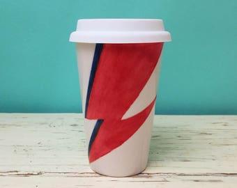 Ceramic 'Ziggy' Travel Mug