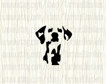 Dalmatian Car Decal, Dalmatian Decal, Dalmatian Face Decal, Firedog Decal, Mans Best Friend, Gift for Animal Lovers, Dalmation Car Decal