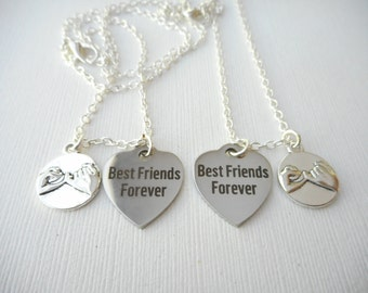 2 Pinky Promise, Best Friends Forever Necklaces/ Friends by choice, for friends, Friend, Birthday Gift, long distance, sister necklace