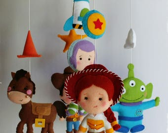 Baby Mobile Baby Mobiles Hanging Toy Story Bedding Nursery Mobile Crib Baby Shower Woody Buzz Lightyear Jessie Bullseye Aliens Spaceship
