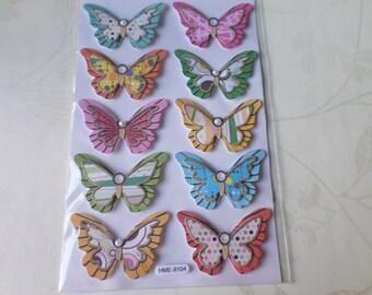 1 x stickers decals 3D butterflies design multicolor Santa Claus