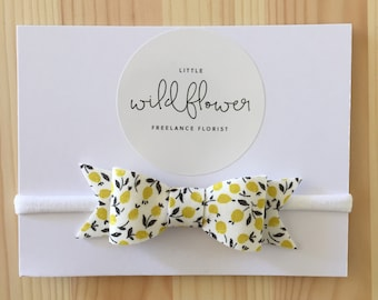 Lemon Yellow Bow Band