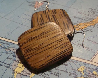 Wanderer Earrings Brown Wood
