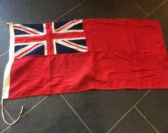 Vintage Stitched Cotton Ensign Union Jack British 53CM X 114CM