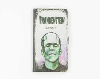 Book phone /iPhone flip Wallet case- Frankenstein for  iPhone  X 8 7 6, 6 7 & 8 plus, 5 5s 5c Samsung Galaxy S9 S8 S7 S6 Note 4, 5, 7, 8 LG,